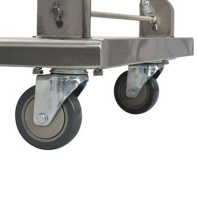 vidaXL Rullvagn 82x53x86 cm rostfritt stål silver,