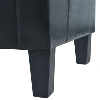 vidaXL 2-sitssoffa i konstläder svart