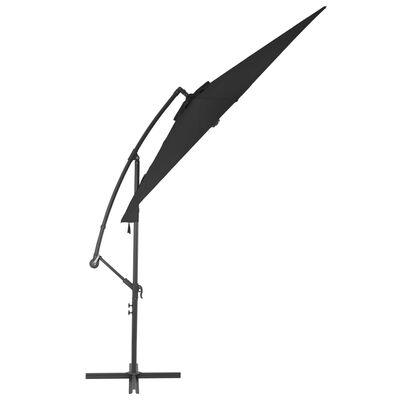vidaXL Frihängande parasoll med aluminiumstång 300 cm svart