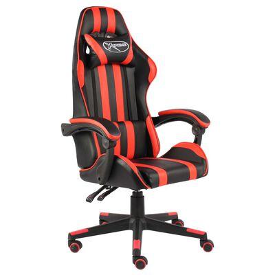 vidaXL Gamingstol svart och röd konstläder