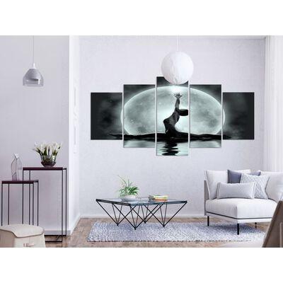 Tavla - Twine (5 Parts) Wide Grey - 100x50 Cm