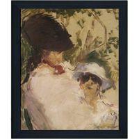 Med ram Jeune fille et enfant,Edouard Manet,61x51cm