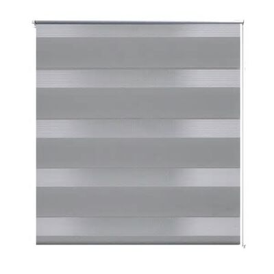 Rullgardin randig grå 80 x 175 cm transparent