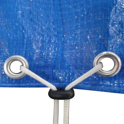 vidaXL Överdrag/skydd för studsmatta PE 360-367 cm 90 g/m²