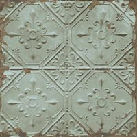 DUTCH WALLCOVERINGS Tapet Tin Ceiling grön
