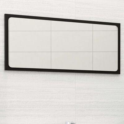 vidaXL Badrumsspegel svart 80x1,5x37 cm spånskiva