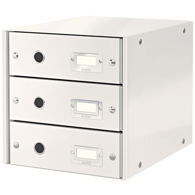 Leitz Skrivbordsbyrå WOW vit 3 lådor
