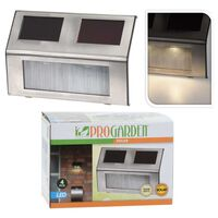 ProGarden Soldrivna trädgårdslampor LED 4 st rostfritt stål