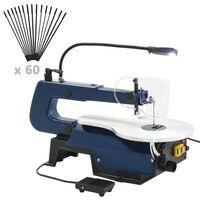 vidaXL Elektrisk figursåg med fotpedal och LED-lampa 125 W