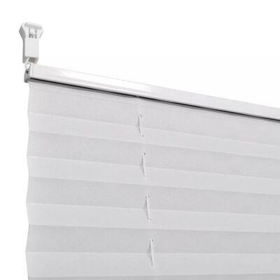Plisségardin 50x125 cm vit