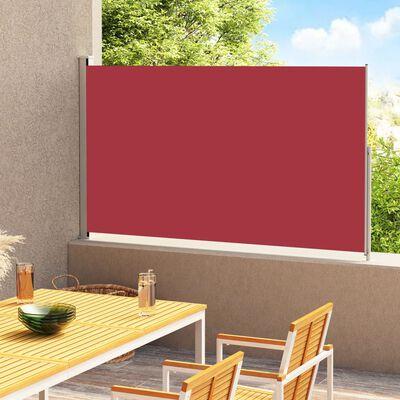vidaXL Infällbar sidomarkis 220x300 cm röd