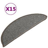 vidaXL Trappstegsmattor 15 st grå 56x17x3 cm