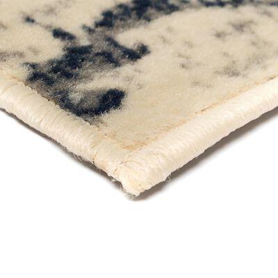 vidaXL Modern matta blomdesign 80x150 cm beige/blå