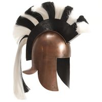 vidaXL Grekisk riddarhjälm för LARP koppar stål