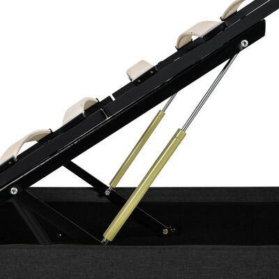 vidaXL Sängram med hydraulisk förvaring och LED mörkgrå tyg 120x200 cm