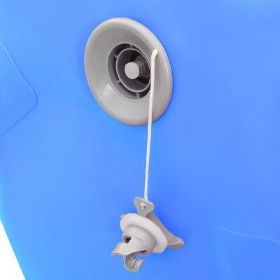 vidaXL Uppblåsbar gymnastikrulle med pump 120x75 cm PVC blå