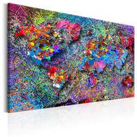 Tavla - Map: Jackson Pollock Inspiration  - 120x80 Cm