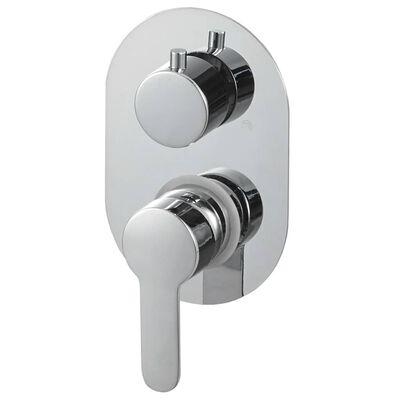 vidaXL Duschsystem rostfritt stål 201 silver