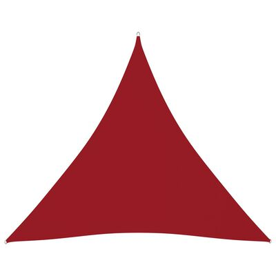 vidaXL Solsegel oxfordtyg trekantigt 3,6x3,6x3,6 m röd