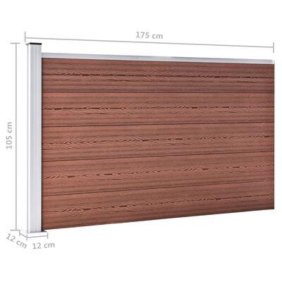 vidaXL Staketpanel WPC 175x105 cm brun
