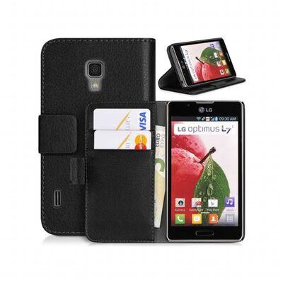 Mobilplånbok 2-kort LG Optimus L7 II (P710) Röd