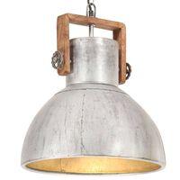 vidaXL Hänglampa industriell vintage 25 W silver rund 40 cm E27