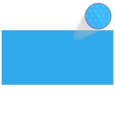 Rektangulärt poolskydd 450 x 220 cm PE blått