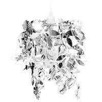 Taklampa Paljettlampa silverfärg 21,5x30 cm