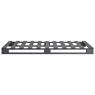 vidaXL Pallsängram grå massiv furu 100x200 cm
