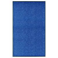 vidaXL Dörrmatta tvättbar blå 90x150 cm