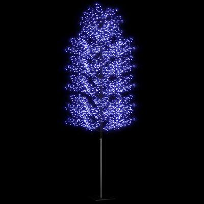 vidaXL Plastgran 2000 LED körsbärsblommor blåvitt ljus 500 cm