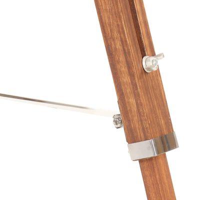 vidaXL Golvlampa honungsbrun och svart massivt teakträ 141 cm