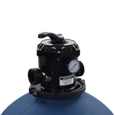 vidaXL Sandfilter och 6-vägsventil blå 660 mm