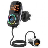 FM-sändare USB MP3 Bluetooth PD/QC för bilen