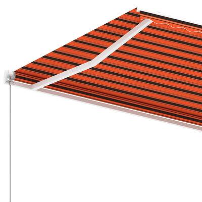 vidaXL Fristående markis manuellt infällbar 350x250 cm orange/brun