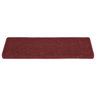 vidaXL Trappstegsmattor 15 st 65x25 cm matt röd