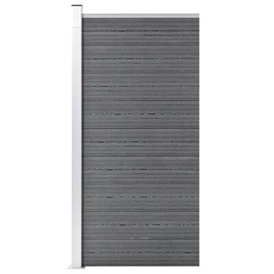 vidaXL Staketpanel WPC 95x186 cm grå