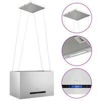 vidaXL Hängande köksfläkt touchsensor LCD 55 cm rostfritt stål