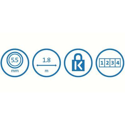 Kensington Kombinationslås med 4 siffror för laptop Ultra