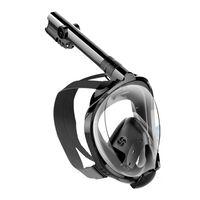 Helmask cyklop med snorkel och GoPro fäste - svart - L/XL