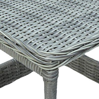 vidaXL Trädgårdsbord ljusgrå 45x45x46,5 cm konstrotting