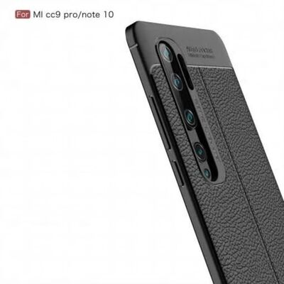 Xiaomi Mi Note 10 Lite Stötdämpande Skal LeatherBack®