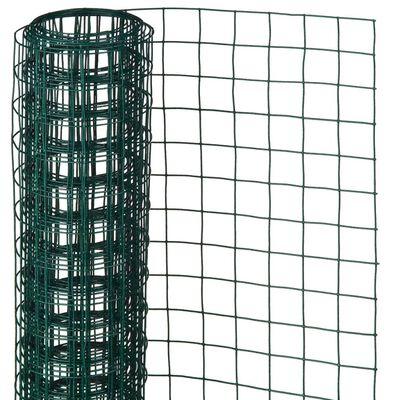 Nature Ståltrådsnät fyrkantig 1x5 m 13 mm plastbelagd stål grön
