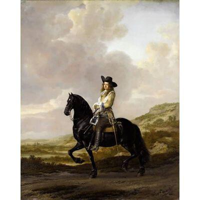Equestrian Portrait of Pieter Schout,Thomas De Keyser,50x40cm,