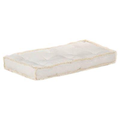 vidaXL Dyna till pallsoffa beige 120x80x10 cm