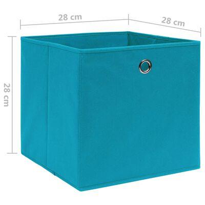 vidaXL Förvaringslådor 10 st non-woven tyg 28x28x28 cm babyblå