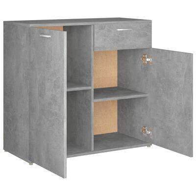 vidaXL Skänk betonggrå 80x36x75 cm spånskiva