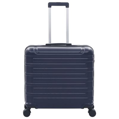 vidaXL Hårda resväskor 2 st marinblå ABS
