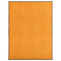 vidaXL Dörrmatta tvättbar orange 90x120 cm