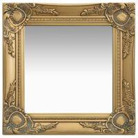 vidaXL Väggspegel barockstil 40x40 cm guld